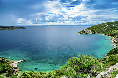 Photograph - Coastline Of Rab, Croatia by Global Light Photography - Nicole Leffer