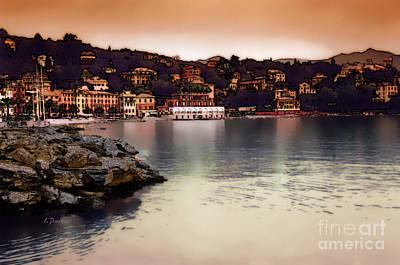Tuscan Digital Art - Port Of Santa Margherita 2 by Linda  Parker
