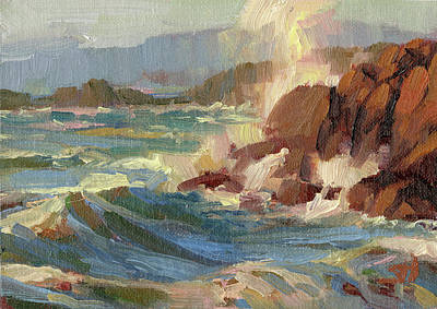 Oregon Coast Wall Art - Painting - Coastline by Steve Henderson