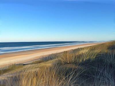 Coastline Digital Art - Coastline Sun And Shade by Anthony Fishburne