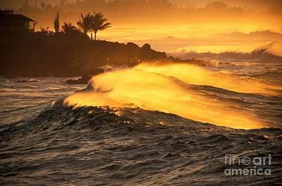 Coastline Sunset Art Print by Vince Cavataio - Printscapes