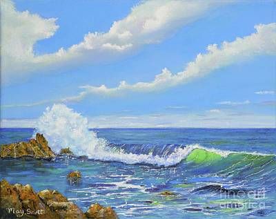 Painting - Coastline Wave by Mary Scott