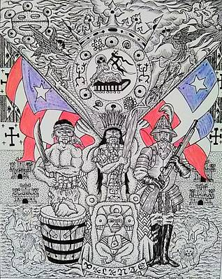 Taino Drawing - Coat Of Arms by Jose Guerrido jr
