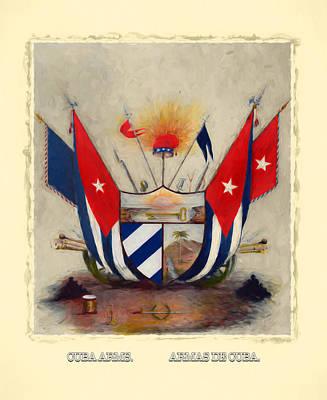 Digital Art - Coat Of Arms Of Cuba by Carlos Diaz