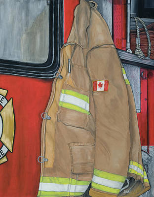 Coat Of Courage- Canadian Flag Art Print by Bobbi Whelan