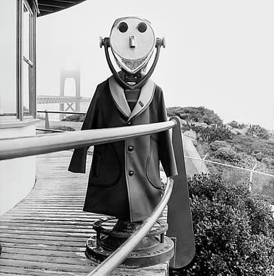 Photograph - Coat On Binoculars by Leonard Nones