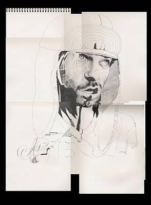 Alex Rodriguez Drawing - Cobain by Alex Rodriguez