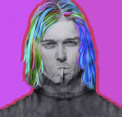 Mixed Media - Cobain, Nixo, #3 by Nicholas Nixo