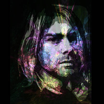 Kurt Cobain Digital Art - Cobain by Zen WildKitty