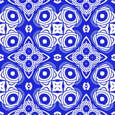 Digital Art - Cobalt Blue Modern Decor Design by Georgiana Romanovna