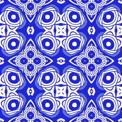 Digital Art - Cobalt Blue Modern Decor Design by Georgiana Romanovna