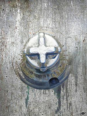 Fire Hydrant Mixed Media - Cobalt Cat by Tony Rubino