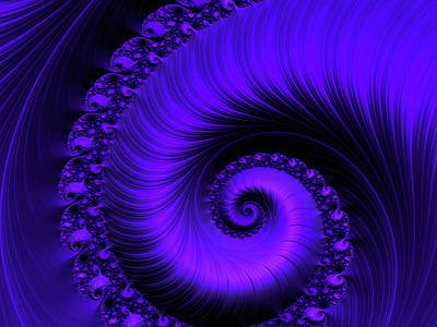 Digital Art - Cobalt Coiled by Susan Maxwell Schmidt