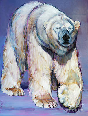 Bear Painting - Cobalt by Mark Adlington