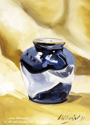 Painting - Cobalt Vase by Laara WilliamSen
