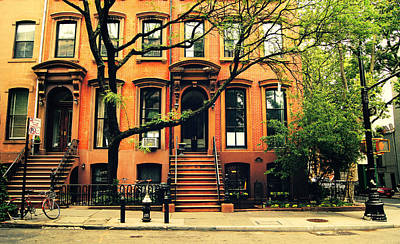 Apartment Photograph - Cobble Hill Brownstones - Brooklyn - New York City by Vivienne Gucwa