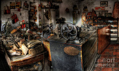 Shoe Repair Photograph - Cobbler's Shop by Yhun Suarez