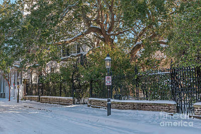 Photograph - Cobbleston Street Covered In Snow by Dale Powell