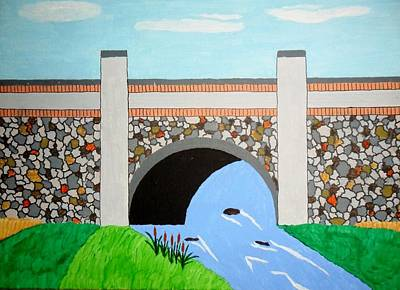 Cobblestone Bridge Art Print by Donald Herrick