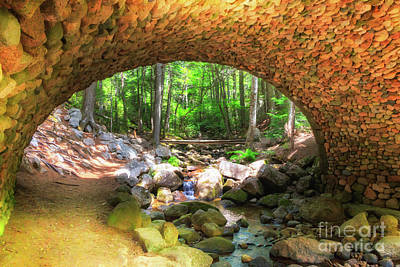 Photograph - Cobblestone Bridge In Acadia by Elizabeth Dow
