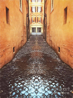 Cobblestone Art Print by HD Connelly