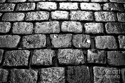 Photograph - Cobblestone Mono by John Rizzuto