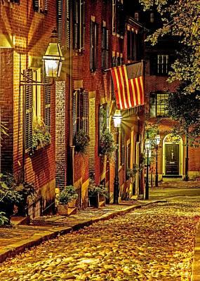 Boston Photograph - Cobblestone On Beacon Hill by Jason Stockwell