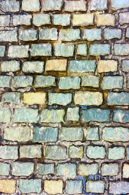 Digital Art - Cobblestone Road by Les Palenik
