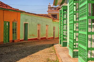 Photograph - Cobblestone Street In Cuba by Patricia Hofmeester