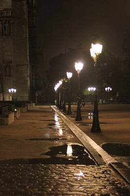 Mauverneen Blevins Photograph - Cobblestones And Street Lamps by Mauverneen Blevins