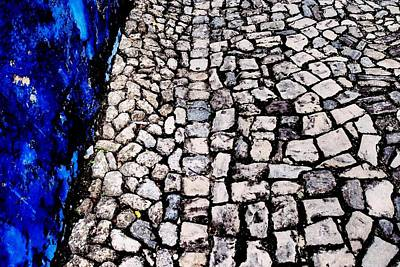 Photograph - Cobblestones With Blue by Dora Hathazi Mendes