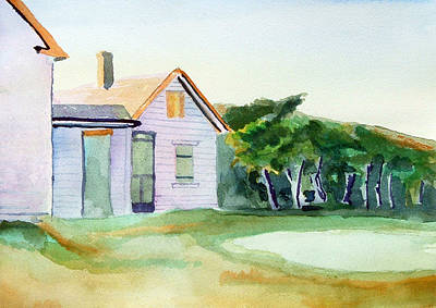 Painting - Cobb's House After Edward Hopper by Paul Thompson