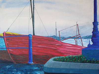 Painting - Cobh Harbor Ireland by Kevin Callahan
