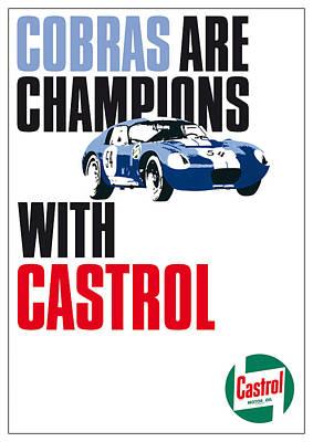 Sportscar Drawing - Cobra Daytona Coupe Castrol Poster by Dietmar Mettke