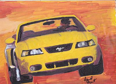 Cobra Mustang Original by David Poyant Paintings