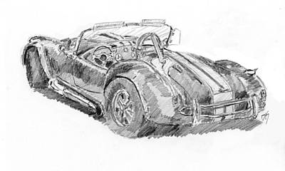Cobra Drawing - Cobra Sketch by David King