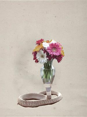 Digital Art - Cobra Vase by Keshava Shukla