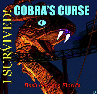 Photograph - Cobras Curse Survivor Poster by David Lee Thompson