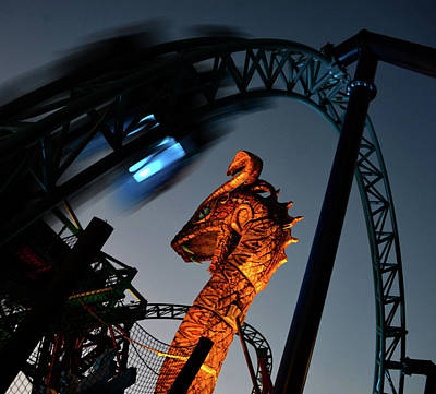 Photograph - Cobra's Curse The Ride by David Lee Thompson