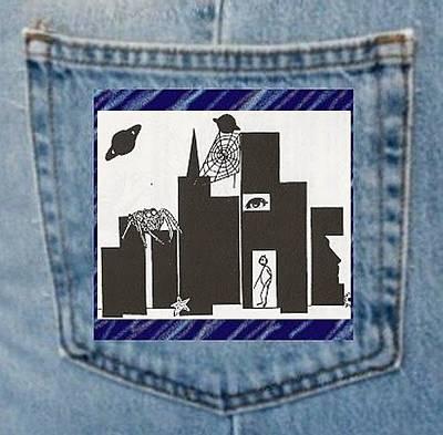 Digital Art - Cobweb City - Pocket Art by Julia Woodman