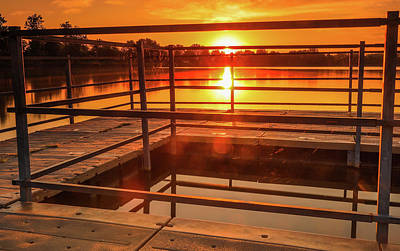 Photograph - Cobwebs And Sunrise On The Dock by Dan Sproul