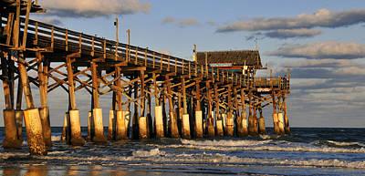 Photograph - Coca Beach Pier Winter by David Lee Thompson