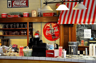 Old Coke Sign Wall Art - Photograph - Diner Coke by Todd Hostetter
