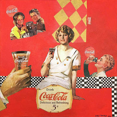 Mixed Media - Coca Cola 5 Cents by Judy Tolley