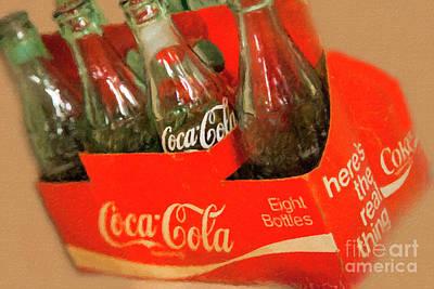 Mixed Media - Coca Cola 8 Pack by David Millenheft