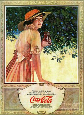 Photograph - Coca-cola Ad, 1907 by Granger