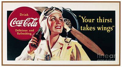 Photograph - Coca-cola Ad, 1941 by Granger