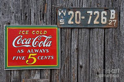 Coca Cola - Always Five Cents Art Print by Mary Machare