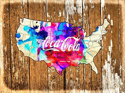 Chart Mixed Media - Coca Cola America by Daniel Janda