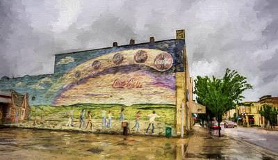 Coca-cola And Small Town Usa Art Print